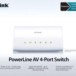 D-LINK Wireless PowerLine AV CPL 4 port DHP-346AV